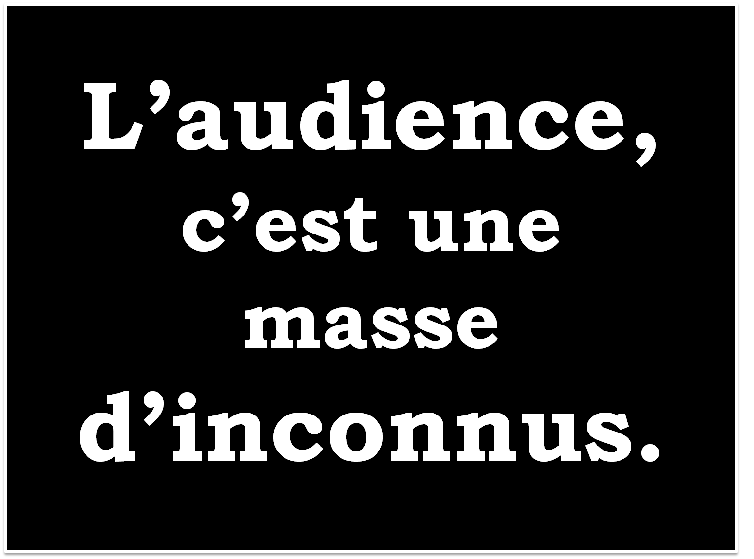 lagardere - audience inconnu